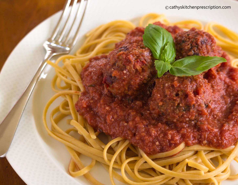 meatless meatballs & spaghetti