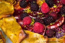 Blood orange berry crostata