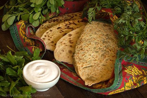 Zhingyalov Khat (Armenian Herb-Stuffed Flatbread)