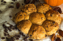 Hearty Pumpkin Raisin Buns