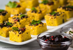 Khatta Dhokla finger food
