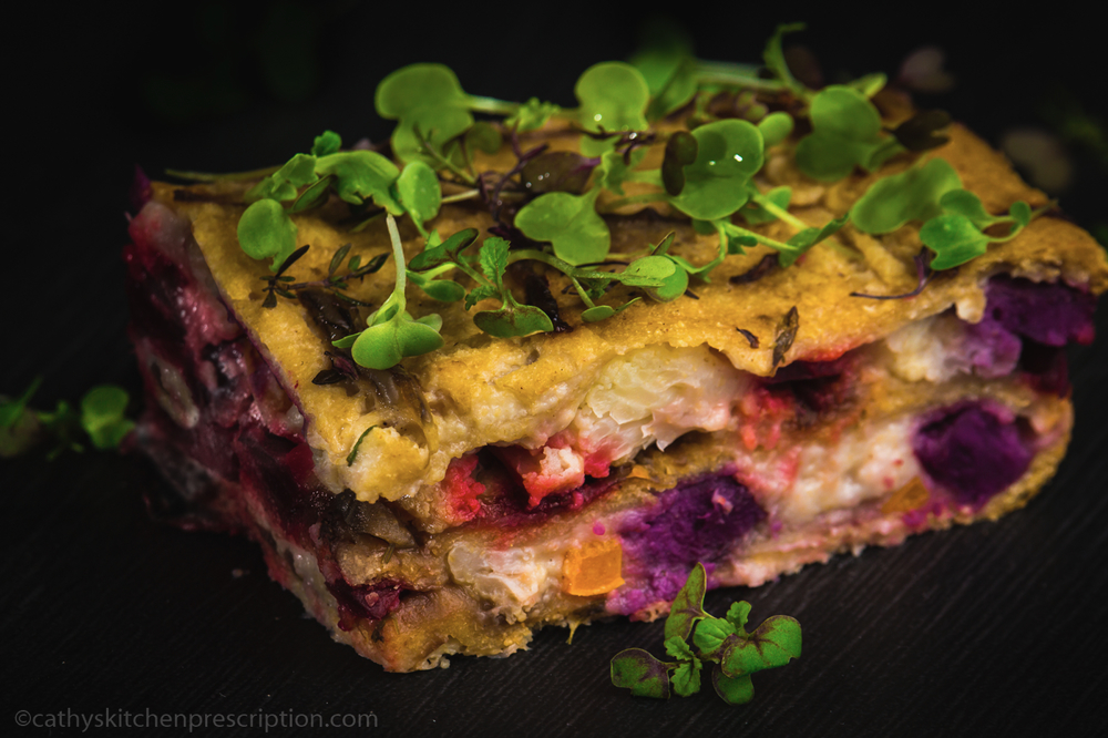 Colorful Veggie Torte