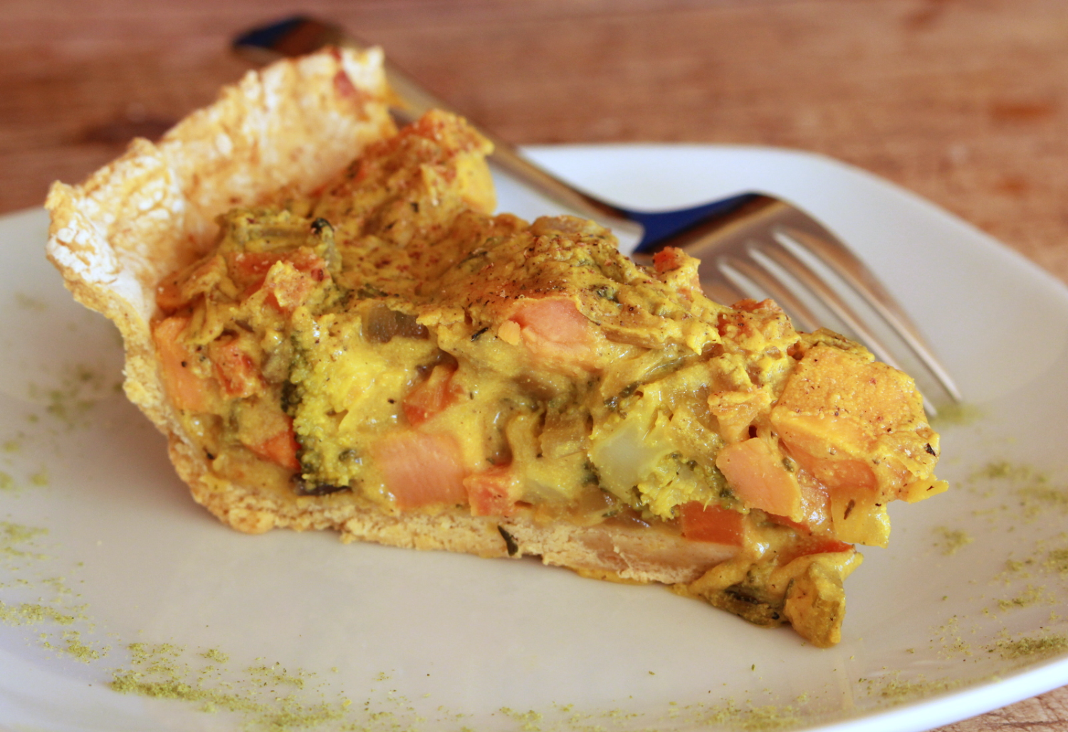 Sweet potato broccoli pie