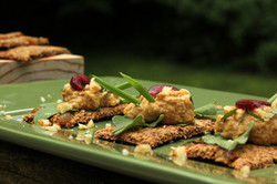 Lacuma-walnut canapes