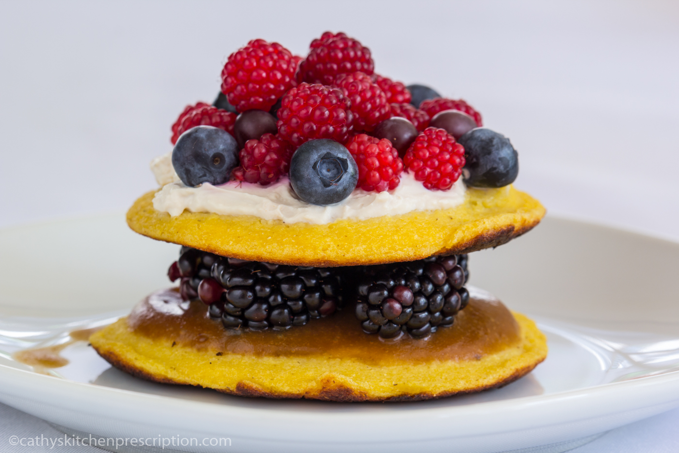 A Very Berry Cachapas Stack