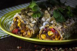 Yucatan bean enchiladas
