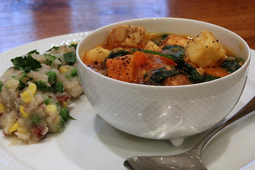 Huku Ne Dovi (Zimbabwean veggie stew)