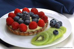 Plant-based fruit tart, no oil