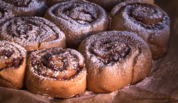 Blueberry coffee rolls