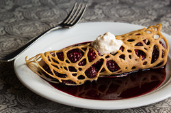 Lacy Blackberry Crêpes