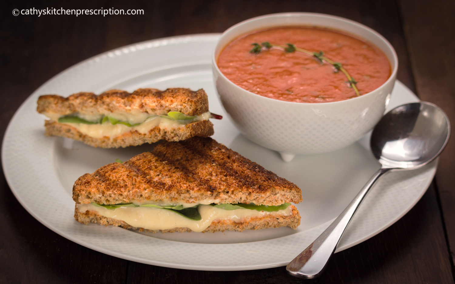 Vegan tomato soup & grilled cheese