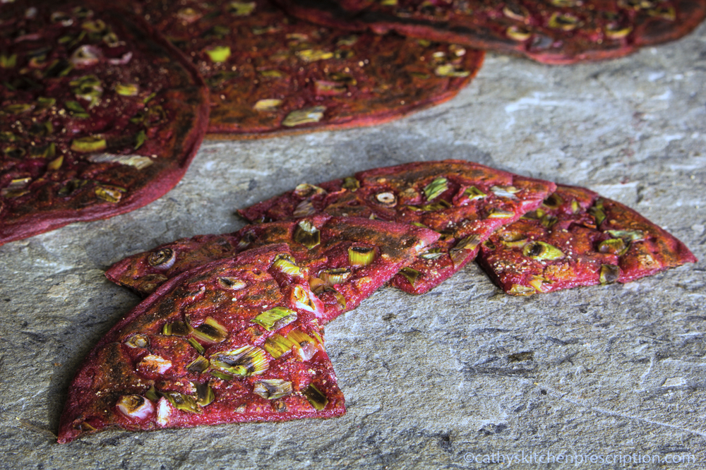 Beet Scallion Sourdough Skillet Bread