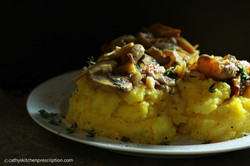 Plant-Based Polenta with Mushrooms