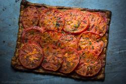 Tarte à la Tomate et à la Moutarde