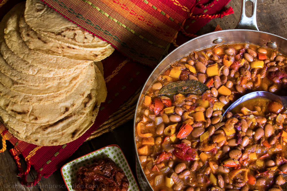 Pueblo Pintos with Mesquite-Corn Tortillas