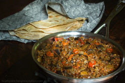 Mualle, Turkish Eggplant Lentil Stew