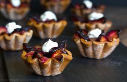 Plum Chestnut Tartlets