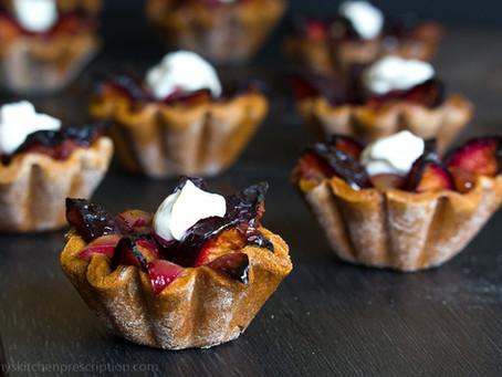 A Sweet Finish for Thanksgiving, Plum Chestnut Tartlets