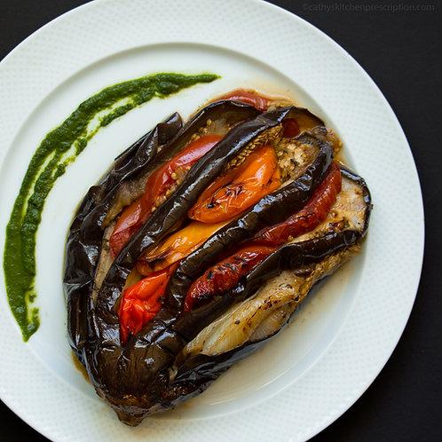 Braised Splayed Eggplant