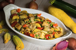 Summer Sauté with Panfried Gnocchi
