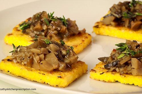 Polenta Crostini con Funghi