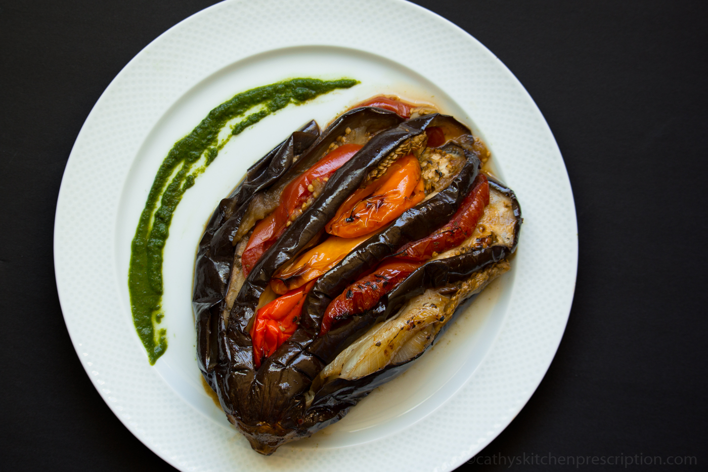Braised Splayed Eggplant
