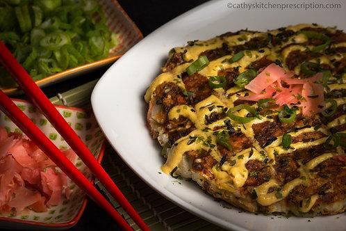 Okonomiyaki, Japanese savory pancakes