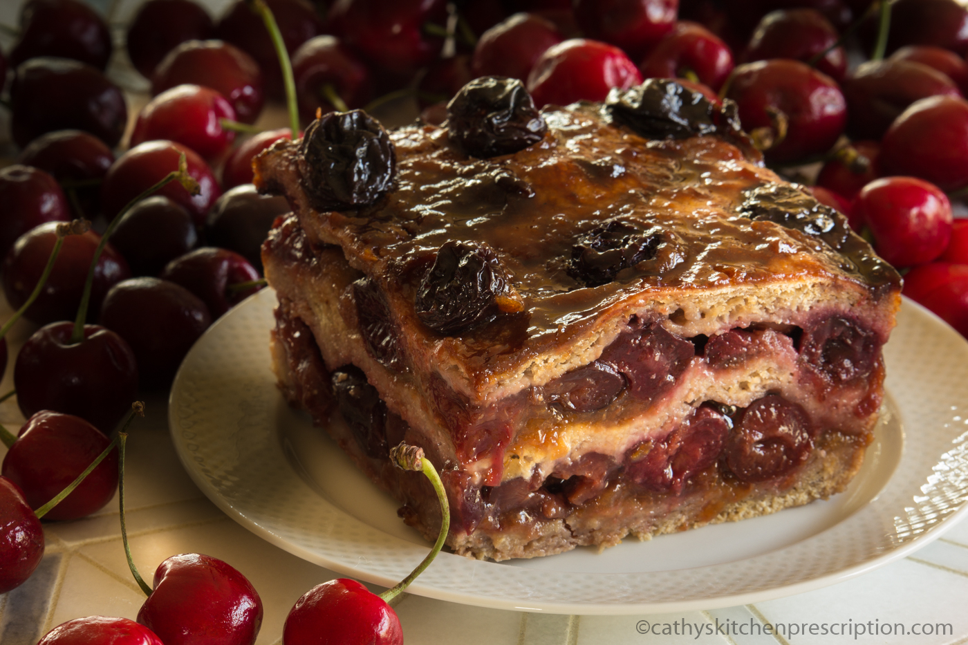 Rustic cherry torte