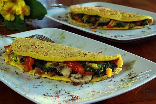 Aquafaba eggless omelettes