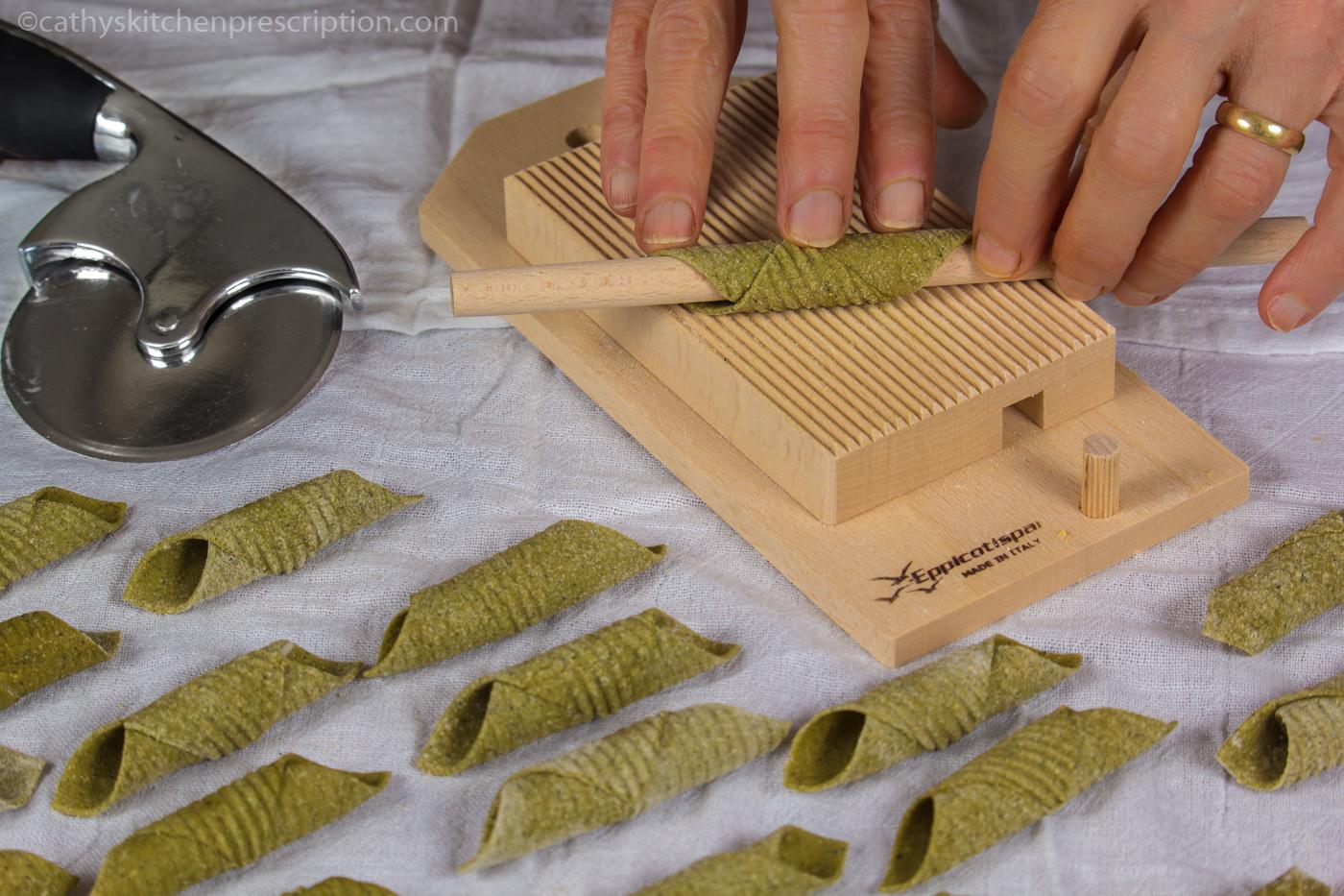 Spinach Garganelli