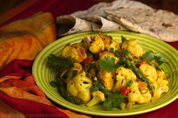 Cauliflower Masala with Phulka Roti
