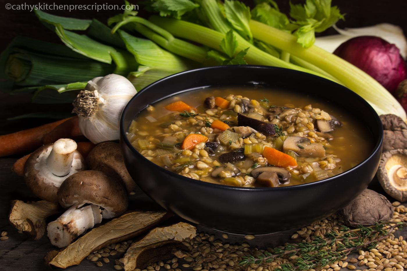 Mushroom Barley Leek Soup