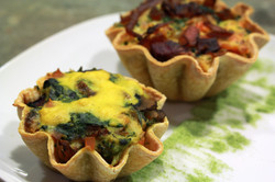 Mini Veggie Quiches