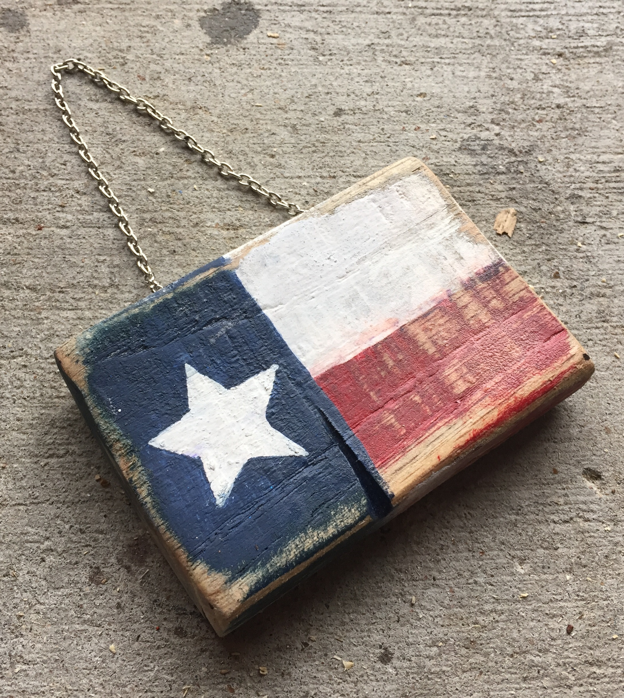 Texas Flag Christmas Ornament