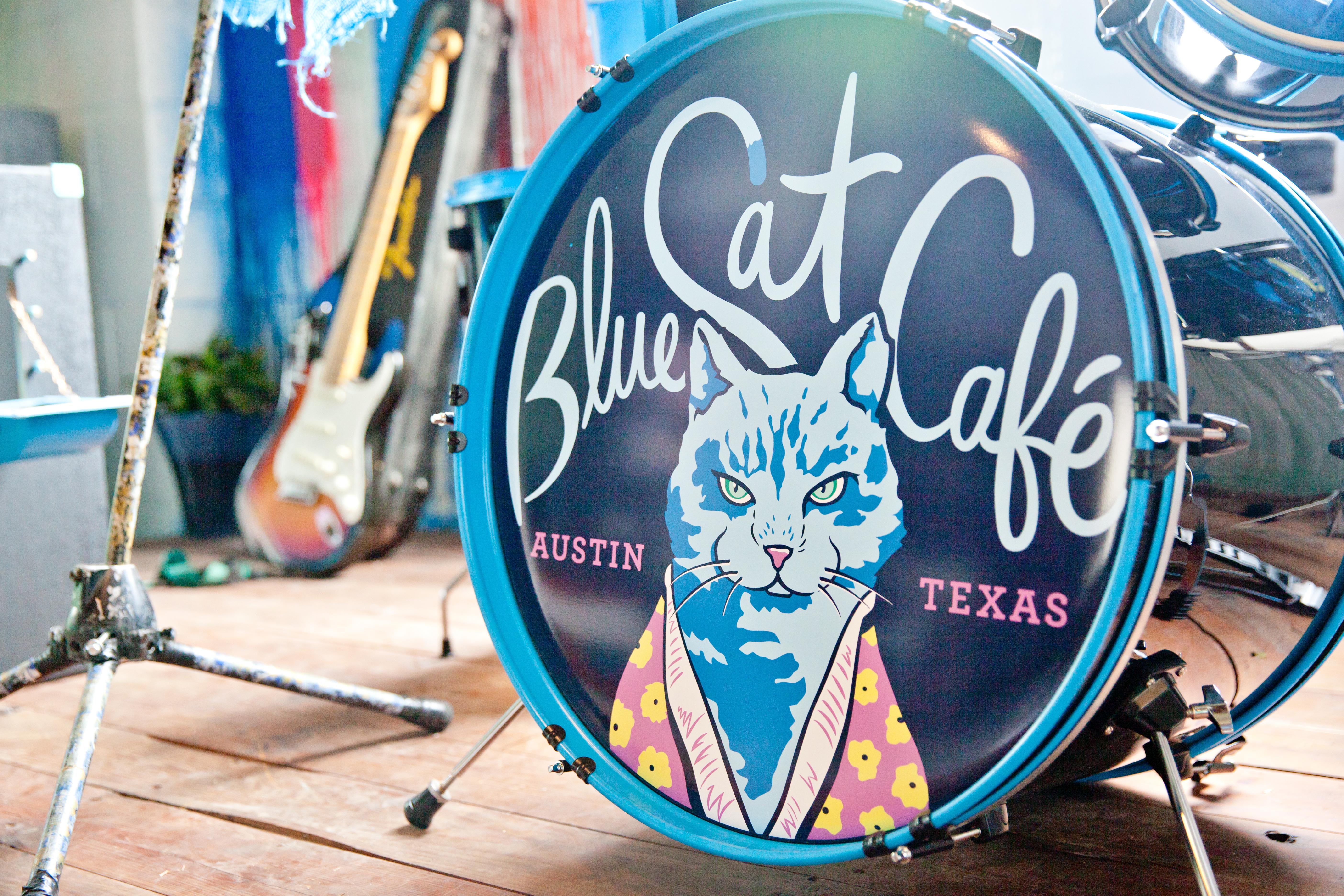 Blue Cat Cafe - Cat Bed Drum Set