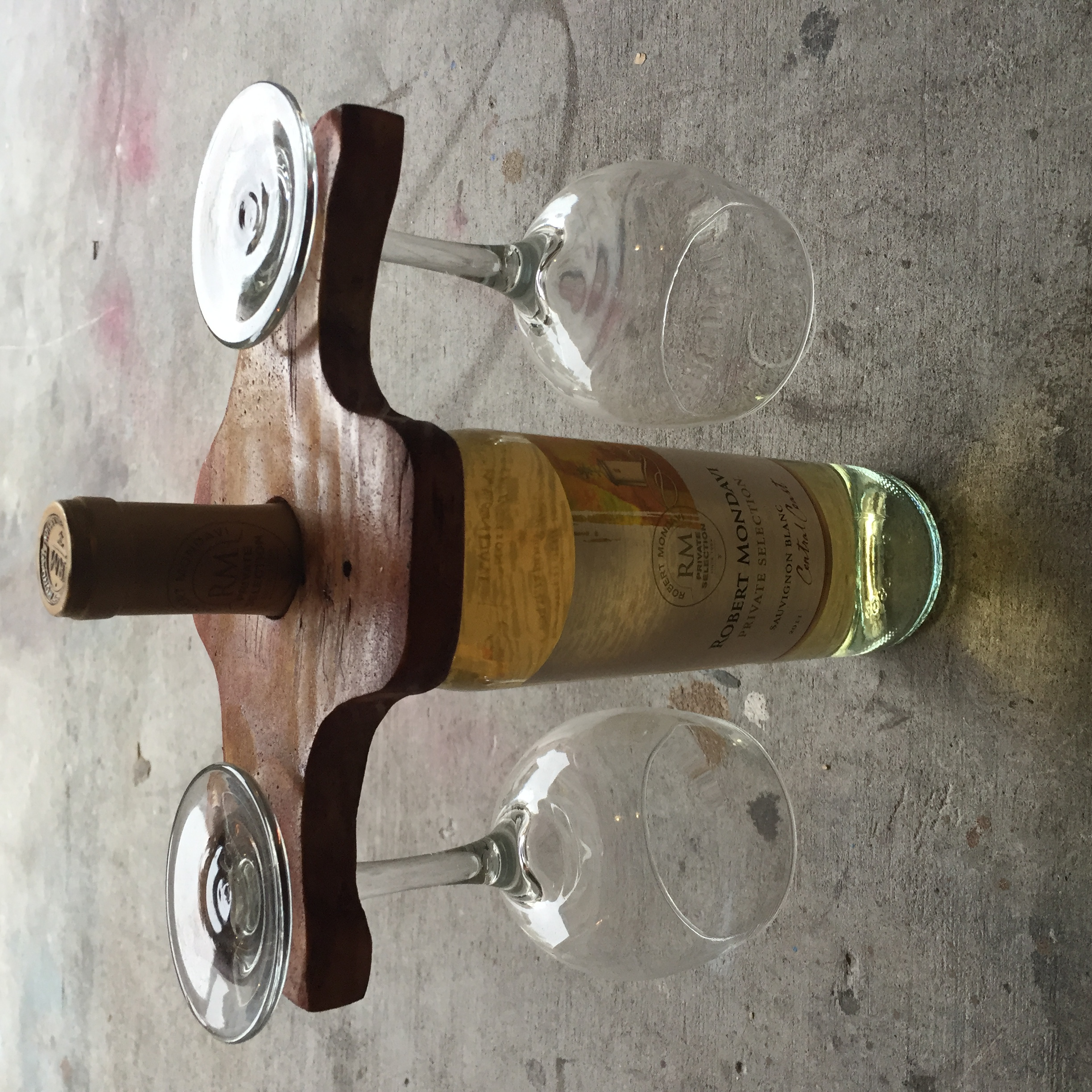 Wine Glass and Bottle Holder