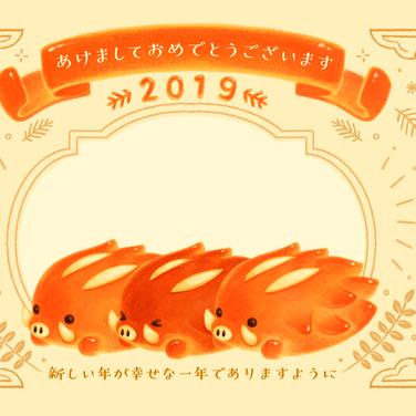 大人可愛いデジカメ年賀状2019