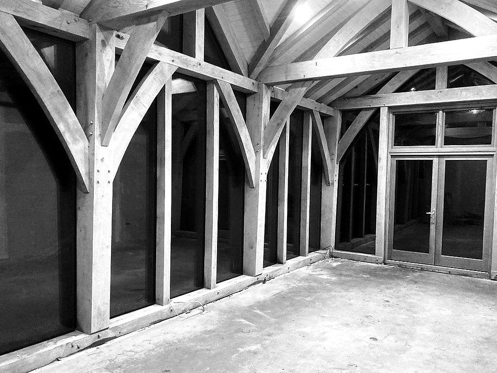 Interior Oak Framed Building_