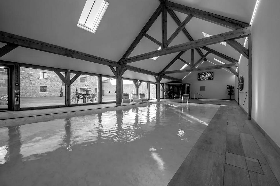 Hinton Park Pool House. Oak Framing Oak