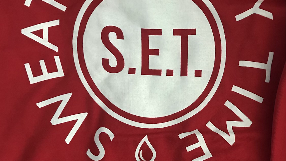 Sweat Red 100% Cotton Hoodie