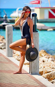 A sunny day in the Caribbean's St. Martin. Vanessa Doleshal. Travel Photography by Ken Faught.