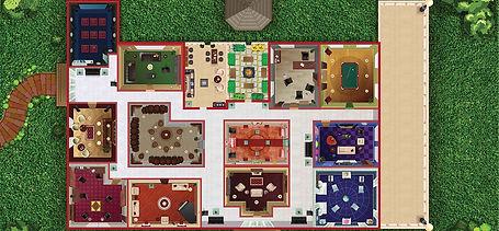 Secret Library Game Board Designed by De