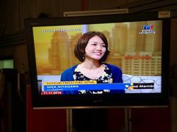 マレーシアの国営チャンネルRTM TV1の朝の生放送ニュースにて鳥取県庁の観光PRのコーナーで通訳をしました
