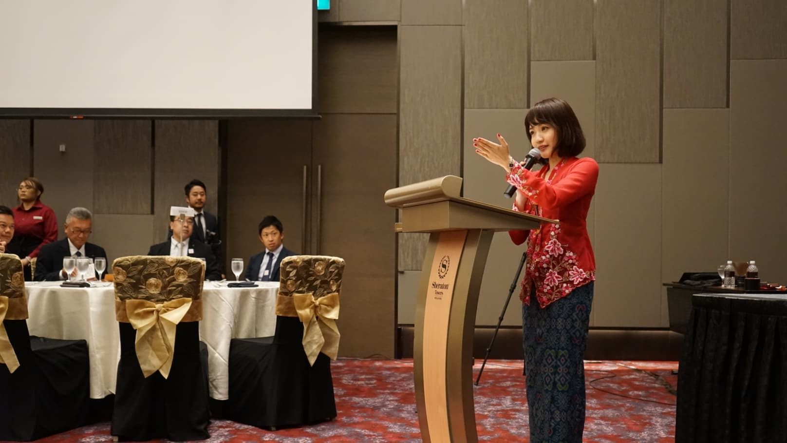 シンガポール日本大使館とシンガポール国家遺産局のコラボイベント「ペラナカン・ナイト」にて