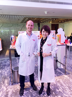 Dr Ci:Laboシンガポール 新商品発表会にて