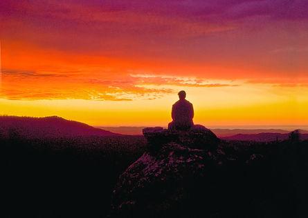 16. Sugano Sihan mediitating at sunrise