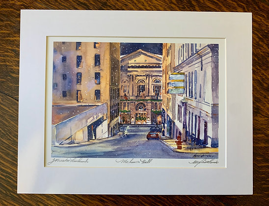 Mechanics Hall Limited Edition Print by Mark Waitkus