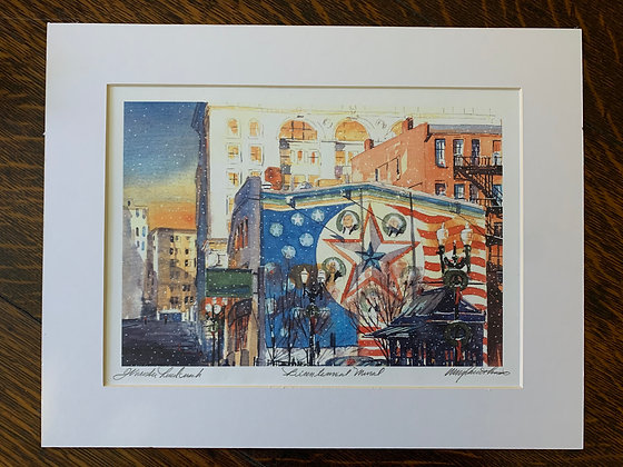 Bicentennial Mural in Winter Limited Edition Print by Mark Waitkus
