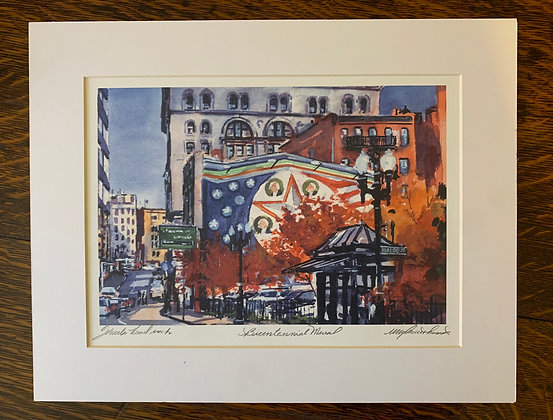 Bicentennial Mural in Fall Limited Edition Print by Mark Waitkus