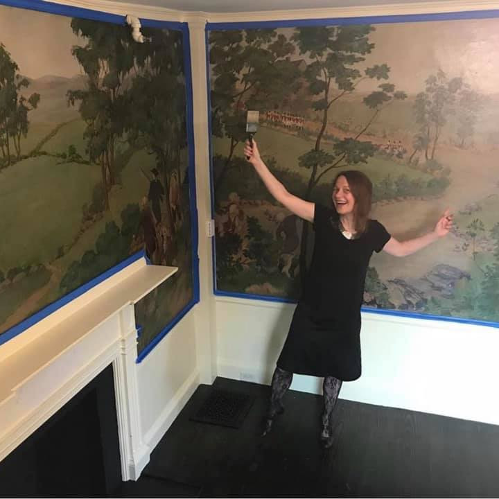 Virtual Conservation Talk: Stearns Tavern Mural